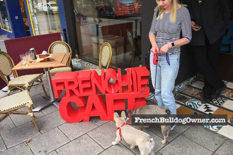 frenchie cafe sign
